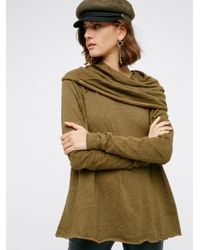 Free People | Green Cocoon Pullover | Lyst