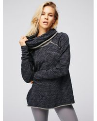 Free People | Blue Cocoon Cowl Neck Top | Lyst