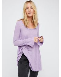 Free People | Purple Come And Catch Me Long Sleeve | Lyst