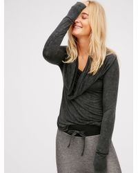 Free People | Black Cosmo Cowl Top | Lyst