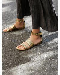 Free People | Metallic Crowe Distressed Sandal | Lyst