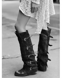 Free People - Black Tatum Over The Knee Boot - Lyst