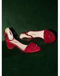 Free People - Red Marigold Block Heel - Lyst