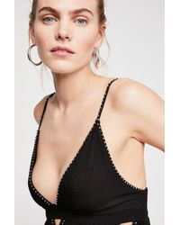 Free People - Black Silver Line Cami By Intimately - Lyst