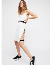 Free People | Black Fence Net Bike Short | Lyst