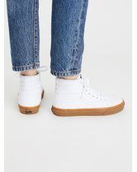 Free People - White Sk8-hi Reissue Gum Hi Top Sneaker - Lyst