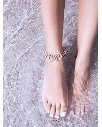 Free People | Metallic Dakoro Chain Anklet | Lyst