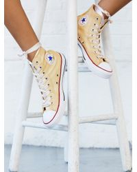 Free People | White Dance Moves Hi Top Chucks | Lyst