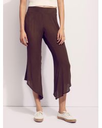 Free People - Brown Dancing Days Solid Flare - Lyst