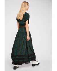 Free People - Green Prairie Flower Maxi Dress - Lyst