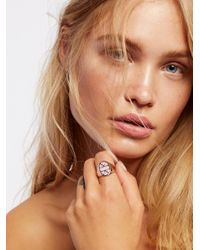 Free People - Pink Stone Signet Ring - Lyst