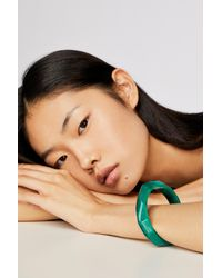 Free People - Green Resin Bangle - Lyst