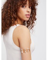 Free People - Natural Take Flight Crystal Armband - Lyst