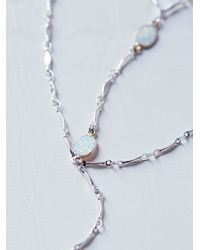 Free People - Multicolor Delicate Opal Tiered Bolo - Lyst