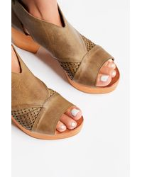 Free People - Brown Revolver Clog - Lyst