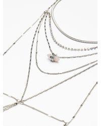 Free People - Metallic Diamond Cut Layering Necklace - Lyst