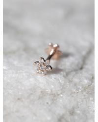 Free People | Pink Diamond Flower Helix Stud | Lyst