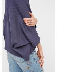 Free People - Blue Downtown Cardi - Lyst