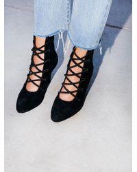 Free People | Black Dynamite Kitten Heel Boot | Lyst