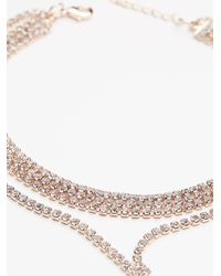 Free People - Metallic Crystal Cove Delicate Bolo Necklace - Lyst