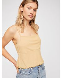 Free People - Natural Jackie's Tank - Lyst