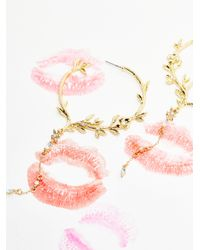 Free People | Metallic Bed Of Roses Drop Hoops | Lyst
