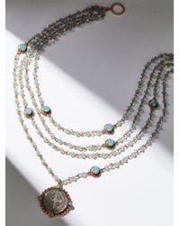Free People   Metallic San Benito Opal Medallion Necklace   Lyst