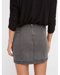 Free People - Black Modern Femme Denim Mini By We The Free - Lyst