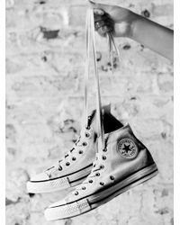 Free People - White Charlie Hi Top Converse - Lyst