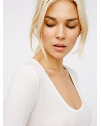 Free People - White Easy Peasy Tee Bodysuit - Lyst