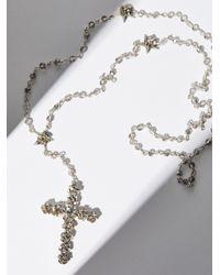 Free People - Metallic Coronation Crystal Rosary - Lyst