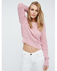 Free People | Pink Electric City Pullover | Lyst