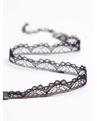 Free People - Black Empire Lace Choker - Lyst