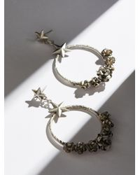 Free People - Metallic Esperanza Coronation Hoop Earrings - Lyst