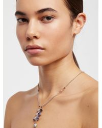 Free People - Blue Washed Ashore Ladder Necklace - Lyst