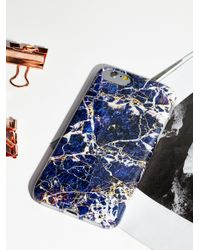Free People - Blue Galaxy Marble Iphone Case - Lyst