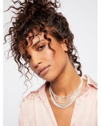 Free People - Brown Accessories Jewelry Necklaces Golden Divine Delicate Necklace - Lyst