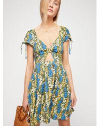 4ac43afff898a Lyst - Free People Miss Right Mini Dress in Blue