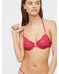 Free People - Pink What She Said Underwire Bra What She Said Thong - Lyst