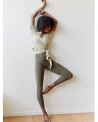 Free People | Green Barely There Leggings Barely There Bra | Lyst
