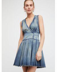 Free People Blue Fp One Celine Wrap Dress