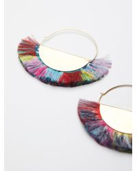 Free People | Multicolor Super Fan Flare Hoops | Lyst