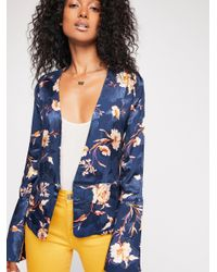 Free People - Blue Sabrina Wrap Jacket - Lyst