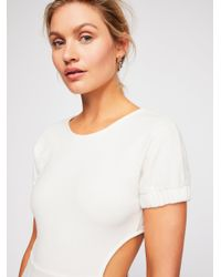 Free People - White My Darling Mini Dress - Lyst