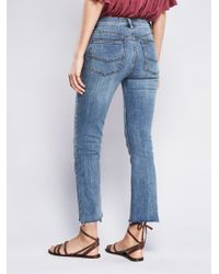 Free People - Blue Far From Any Road Cropped Jean - Lyst