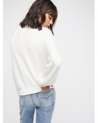 Free People White Tgif Pullover
