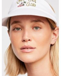 Free People - White Cha Cha Club Visor - Lyst