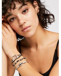 Free People - Metallic Sandy Bay Bracelet - Lyst