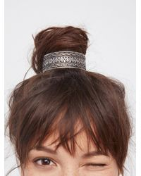 Free People | Metallic Engraved Bun Cuff | Lyst