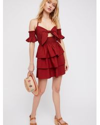 Free People - Red Everly Mini Dress - Lyst